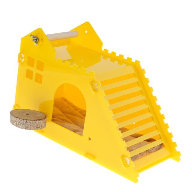 maison Hamster bois jouet Escalier nain souris