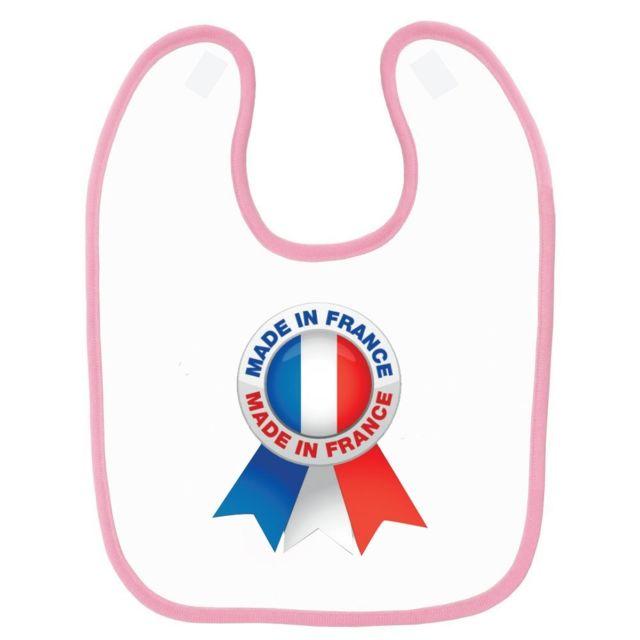 5ec75df54952 Mygoodprice - Bavoir bébé imprimé France drapeau devise Rose - pas ...
