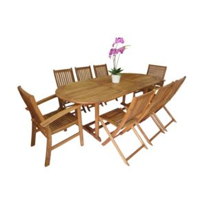 envie de meubles salon de jardin santiago en acacia pas cher achat vente ensembles tables. Black Bedroom Furniture Sets. Home Design Ideas