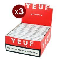 Yeuf Papier A Rouler - Le Lot De 3 Btes De 28 Carnets Yeuf Slim + Tips 32F+T/CARNET, Feuilles A Rouler