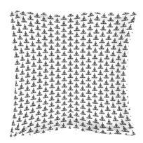 La Maison D'AMELIE - Taie d'oreiller coton imprimé 63x63 Caresse Blanc/ANTHRACITE