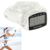 Wewoo - Podomètre numérique de couverture de blanc style de coeur de 3D, compteur de pas / distance parcourue / calculatrice de calorie