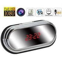 Yonis - Réveil camera espion miroir Full Hd 1080P détecteur de mouvement