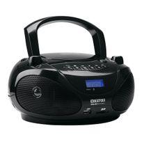 Beatfoxx - Boomtastic Boombox avec lecteur Cd/MP3, portes Usb/SD et Bluetooth, noir
