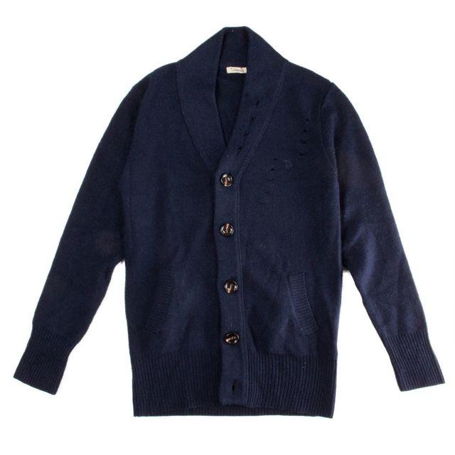 708221d82bfa Ddp - Gilet bleu marine en laine homme Deepend - pas cher Achat ...