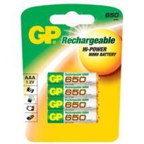Gp - 4 batteries rechargeables 1.2V Aaa Lr3 Lr03 650mAh Nimh