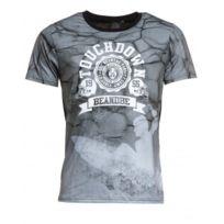Celebry tees - T-shirt noir imprimé vague et surfeur
