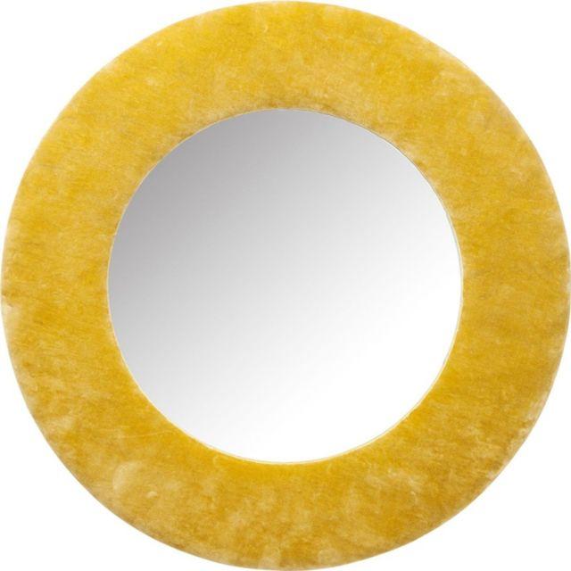 Karedesign Miroir Cherry velours jaune 80cm Kare Design