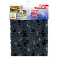 les animaux de la fee tapis sliky confort pour chien gris taille t2 - Canape Pour Chien Grande Taille