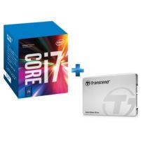 INTEL - Processeur Core i7-7700K 4.20GHz LGA1151 - KABYLAKE + SSD SSD220 - 120 Go - Boîtier Aluminium