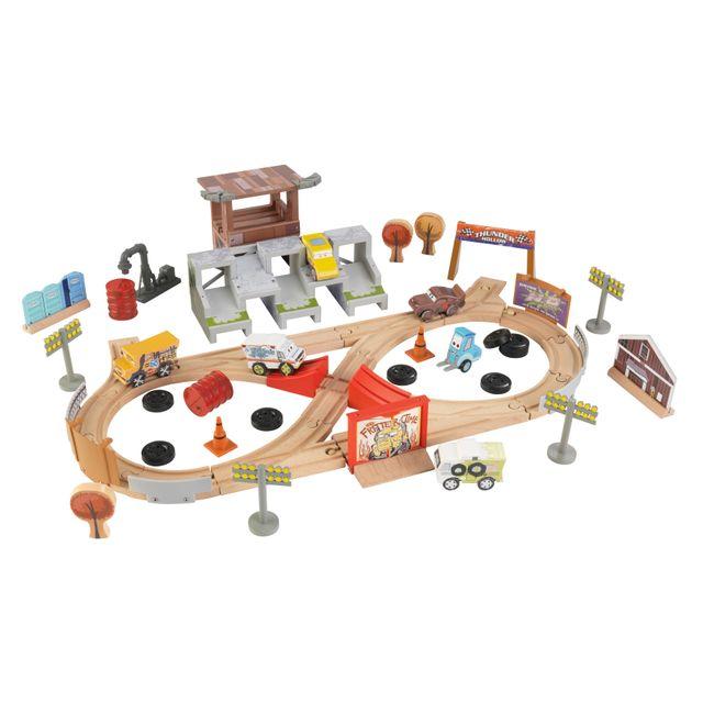 KIDKRAFT CARS 3 - Ensemble Train - 50 Pièces Crazy Eight - 17212