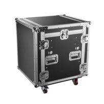 Kimex - Flight case régie rack 19'' pour console, plan incliné, Capacité 12U