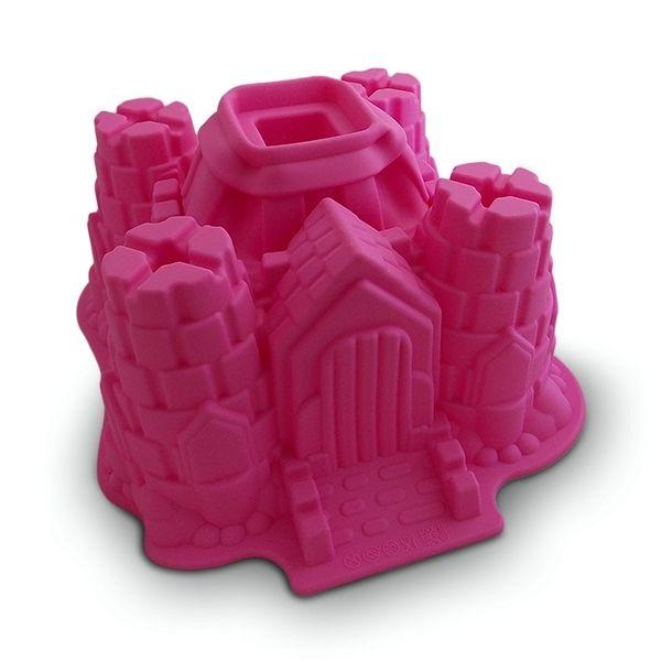 Totalcadeau Moule à gâteau en silicone château fort