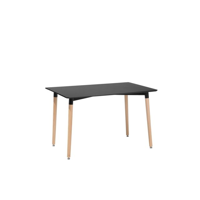 BELIANI Table de salle à manger noire 120x80 cm FLY - noir