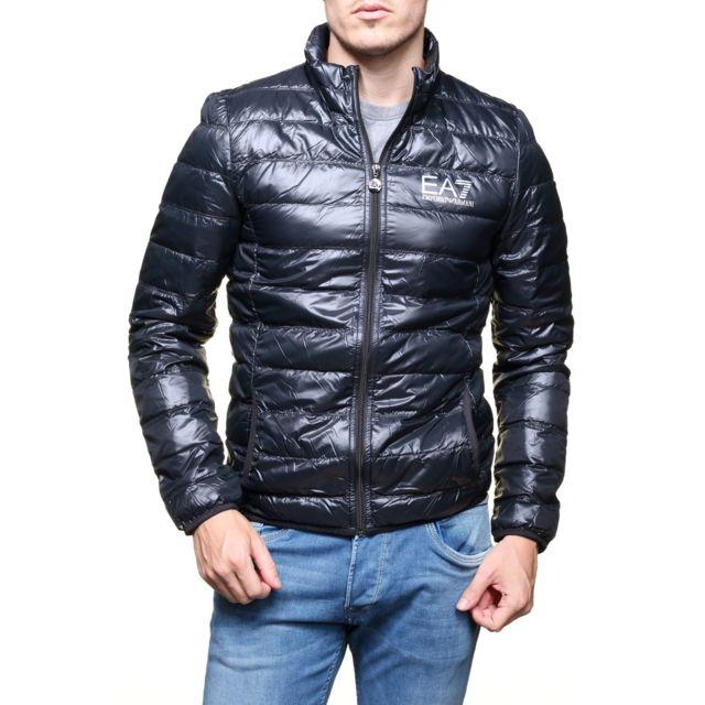Armani - Blouson Ea7 Emporio 8npb01 - Pn29z 1200 Noir - pas cher Achat    Vente Blouson homme - RueDuCommerce 2e79d26188b