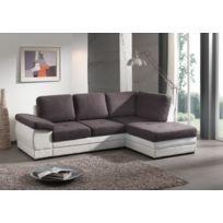 Modern sofa - Lyon angle droit gris.blanc