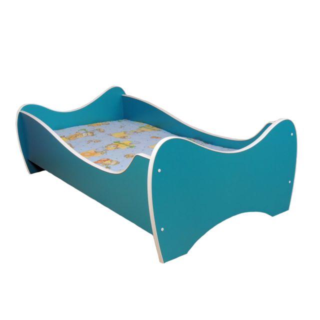 Other Lit pour un enfant - Midi Color - Turquoise MATELAS Gratuit 140 x 70 cm
