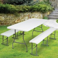 Table et Chaises de jardin plastique - Achat Table et Chaises de ...