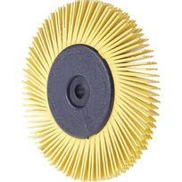 3M - Brosse Radiale Bristle Brush Bb-zb, Ø x Épais. : 150 x 12 mm, Grain 120, Couleur blanc, Nombre de segments : 8