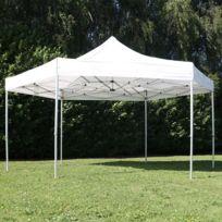 Mobeventpro - Tente pliante hexagonale 3m 300g/m² 50MM Blanche