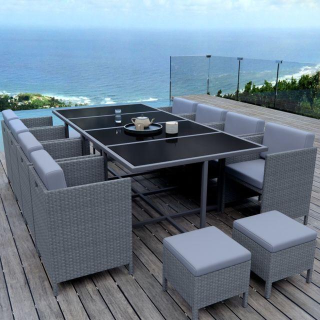 Ims garden munga 12 places ensemble encastrable salon - Table plus chaise de jardin pas cher ...