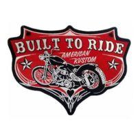 Universel - Gros patch built to ride moto americaine construit pour rouler 29 cm ecusson dos veste blouson