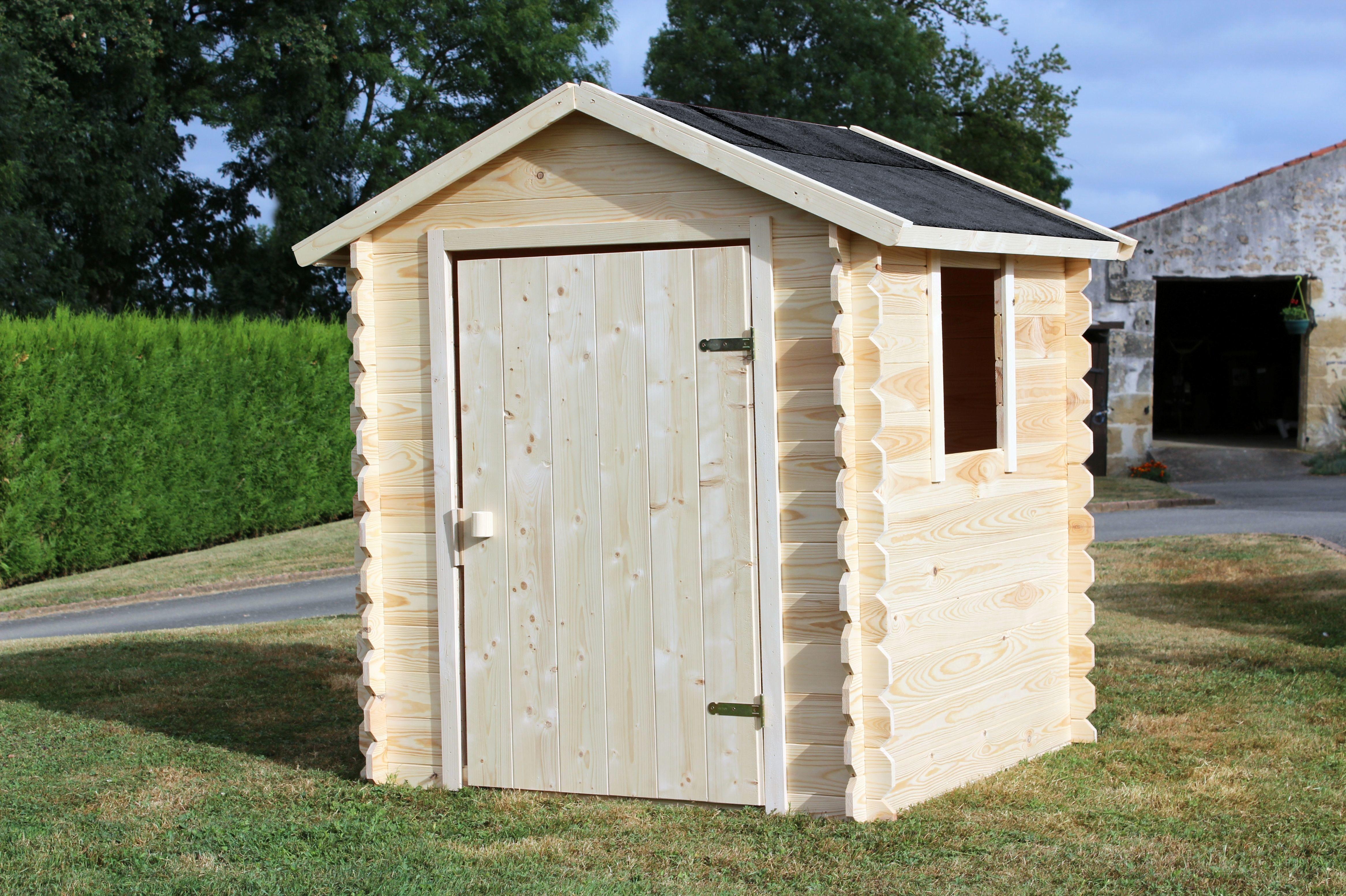 Maisonnette en bois brut ROMANE - 788672