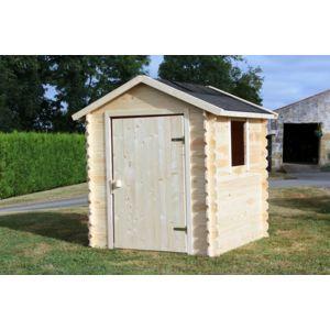 soulet maisonnette en bois brut romane 788672 pas cher achat vente maisonnettes tentes. Black Bedroom Furniture Sets. Home Design Ideas