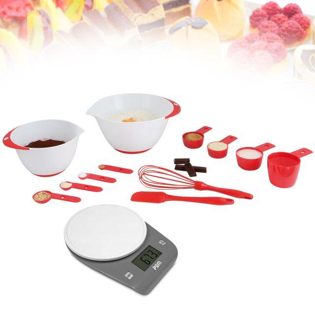 Pem Set 12 accessoires pâtisserie + Pèse aliment en plastique