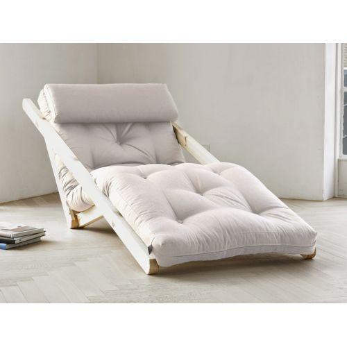 karup fauteuil chaise longue en bois avec matelas futon figo 70 naturel pas cher achat. Black Bedroom Furniture Sets. Home Design Ideas