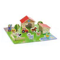 Milly Mally - Ferme avec animaux 3D pour enfant 3ans+ | Multicolore