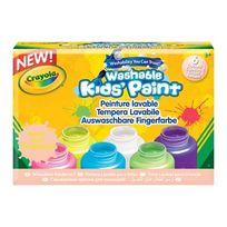 Crayola - 6 pots de Peinture Fluo Lavable