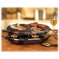 Tristar - Combi Maxi Grill Raclette Pierre à griller 8 poelons Pour soirées conviviales entre amis