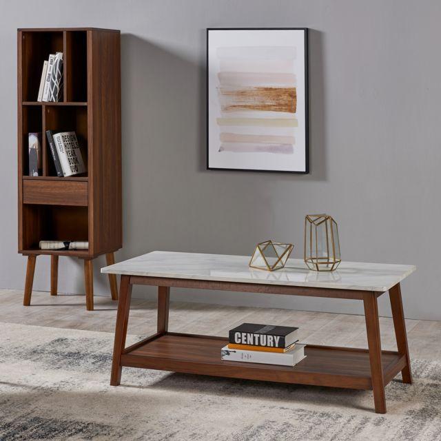 VERSANORA Table basse de salon en bois moderne mi-siècle Kingston VNF-00061