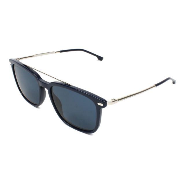 e71a19dd7c8b0 Hugo Boss - Boss-0930-S Pjp KU Bleu brillant - Argent - Lunettes de soleil  - pas cher Achat   Vente Lunettes Tendance - RueDuCommerce