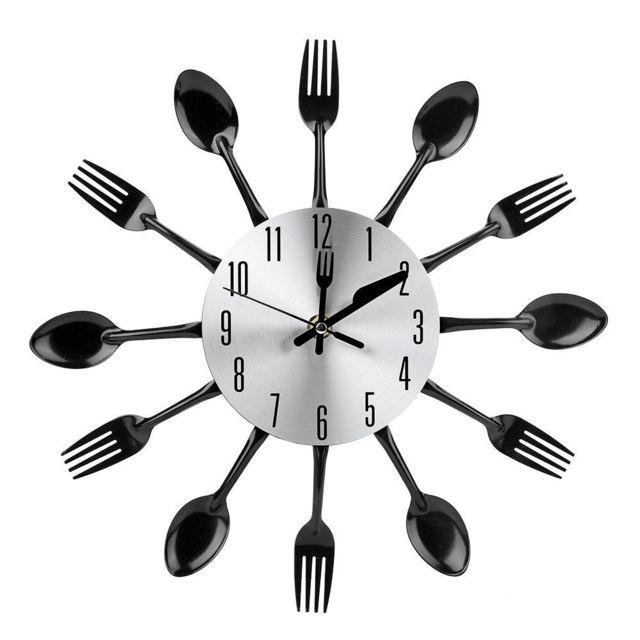 Marque Generique Horloge De Coutellerie En Acier Inoxydable Et