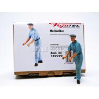 Figutec - Figurines Mecanicien Auto Union- Pousse et dirige la voiture - 1/18 - 180302
