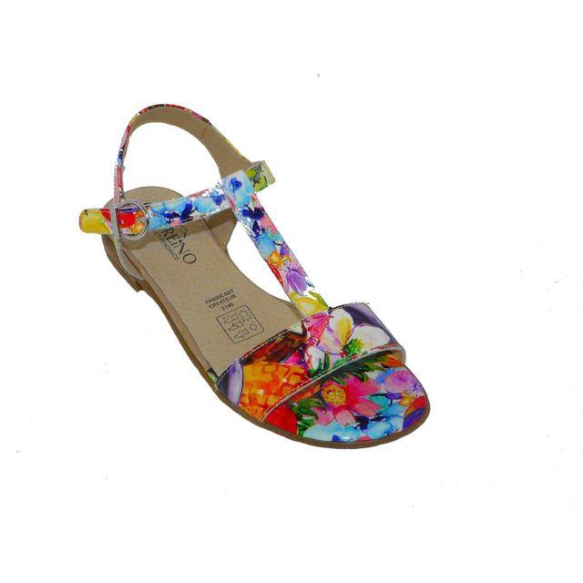 Cuir Multicolore Chaussures Geo Sandales Femme Reino Pas Confort CQrtdsh