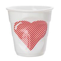 Revol - Gobelet cappuccino en porcelaine blanc avec motif Froisses