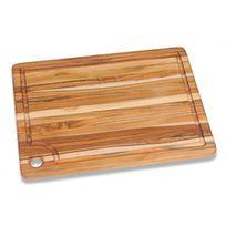 Teak Haus - Planche à Découper Rectangulaire En Teck Avec Rigole 40 X 30 Cm