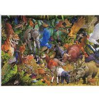 JAMES HAMILTON - Puzzle 1000 pièces - Méli-mélo animaux de la jungle