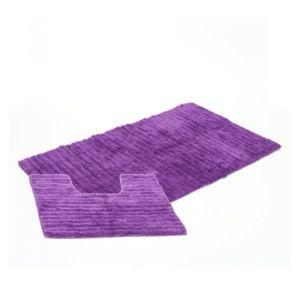 jja tapis salle de bain contour wc violet pas cher achat vente tapis de bain rueducommerce. Black Bedroom Furniture Sets. Home Design Ideas
