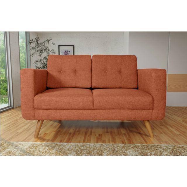 Rocambolesk Canapé Hedvig 2 savana orange 18 pieds naturels sofa divan