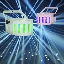 Ibiza Light - Pack De 2 Derby Puissant 100% Led Jeux Lumiere Dj