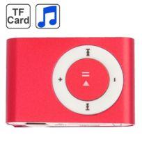Wewoo - Lecteur Mp3 carte Tf Micro Sd avec clip en métal rouge