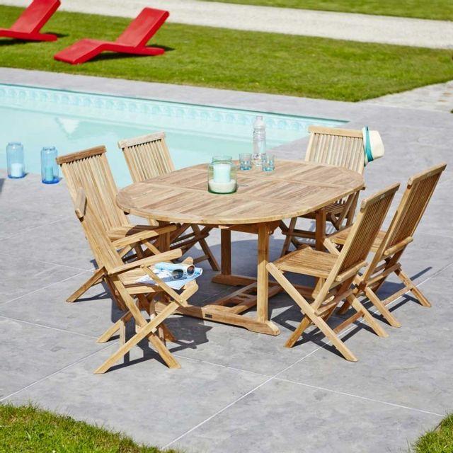 Bois Dessus Bois Dessous - Salon de jardin en bois de teck ...