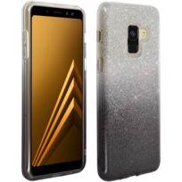 Avizar - Coque Galaxy A8 2018 Coque Protection Pailletée Silicone Gel Glitter Effect Noir