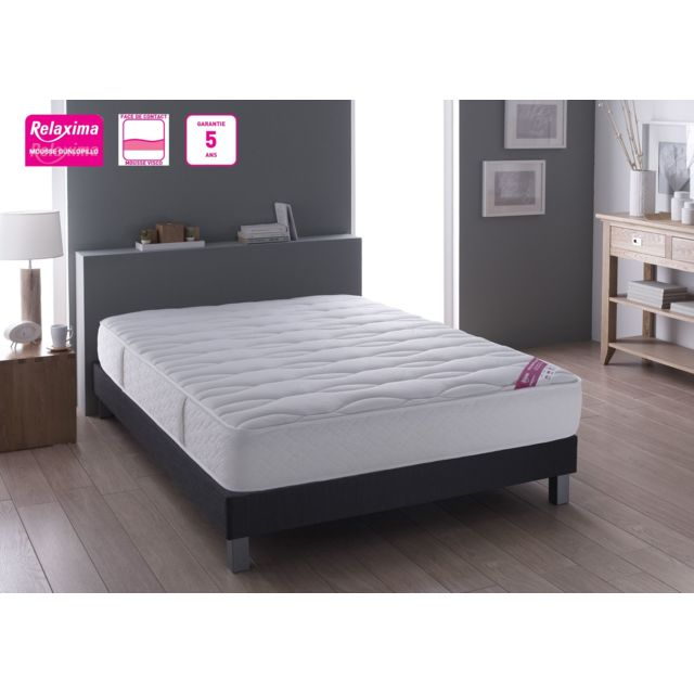 relaxima ensemble matelas salvador mousse dunlopillo sommier santiago d coration 4 pieds. Black Bedroom Furniture Sets. Home Design Ideas