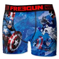 Marvel Comics - Freegun Boxer Homme Microfibre Pai Bleu Marvel