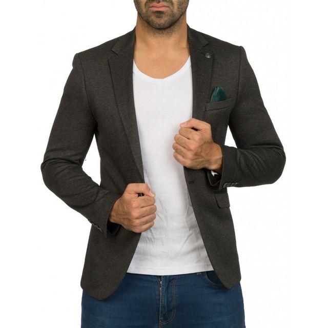 beststyle veste costume homme noire cintr e chic l pas cher achat vente blouson homme. Black Bedroom Furniture Sets. Home Design Ideas